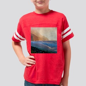 Kalalau Sunset Tropical Showe Youth Football Shirt